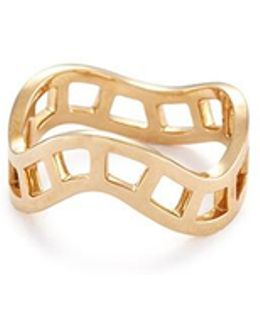 'la Échelle' 18k Yellow Gold Cutout Wavy Ring