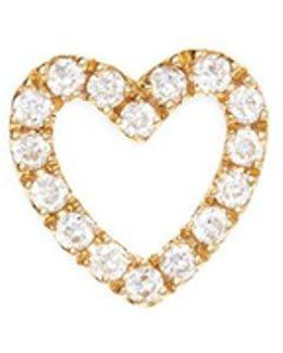 Diamond 18k Yellow Gold 'heart' Charm – With Love
