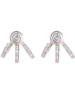 'trilogy' Diamond Sterling Silver Earrings