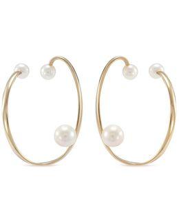 'ellipse' Pearl 14k Yellow Gold Ear Cuff