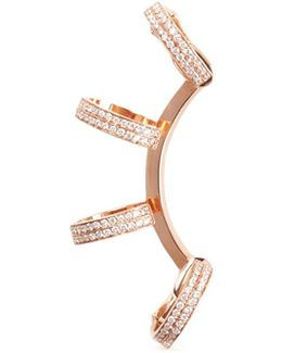 'berbère' Diamond Rose Gold 4-hoop Ear Cuff