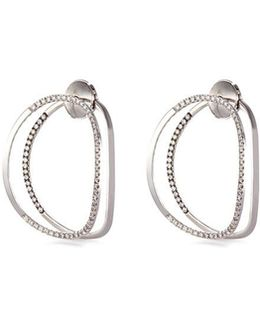 'little Earclipse' Diamond 18k White Gold Earrings
