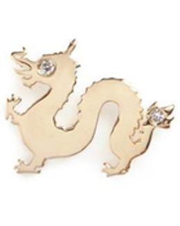 18k Yellow Gold Diamond Chinese New Year Charm - Dragon
