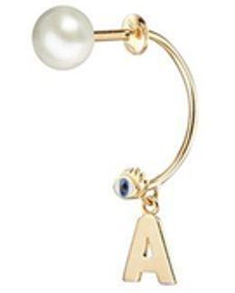 'abc Micro Eye Piercing' Freshwater Pearl 18k Yellow Gold Single Earring – A