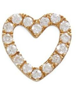 Diamond 14k Yellow Gold 'heart' Charm – With Love