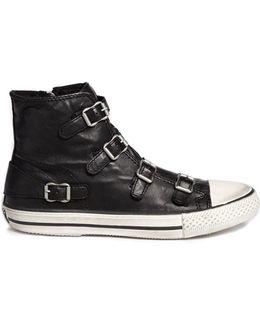 'virgin' Buckle Leather Sneakers