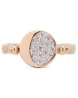 'reversible Moon Phase' Diamond 18k Rose Gold Ring