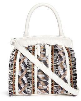 'bobbi' Panel Leather Crossbody Bag