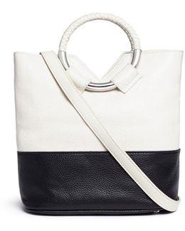 'elina' Ring Handle Colourblock Leather Crossbody Bag