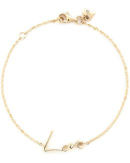'neon Love' 18k Yellow Gold Charm Bracelet