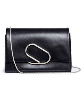 'alix' Paperclip Flap Leather Clutch