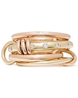 'lyra Gold' Diamond 18k Gold Four Link Ring