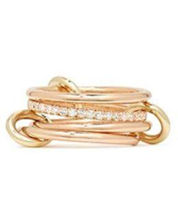 'sonny Sp' Diamond 18k Rose Gold Four Link Ring