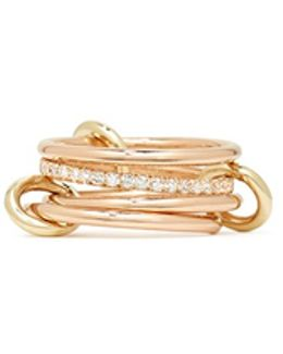 'sonny Sp' Diamond 18k Rose Gold Four Link Ring
