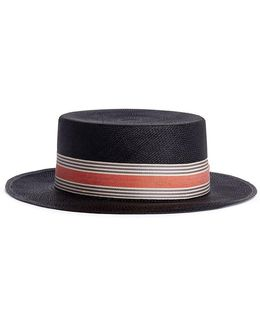'canotier' Straw Boater Hat