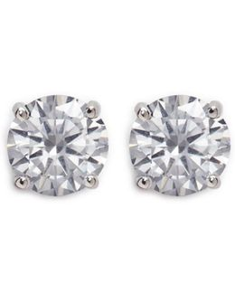 Round Cut Cubic Zirconia Large Stud Earrings