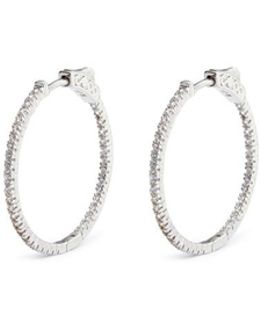 Cubic Zirconia Pavé Hoop Earrings