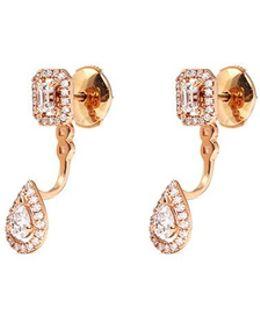 'my Twin' Detachable Diamond 18k Rose Gold Earrings
