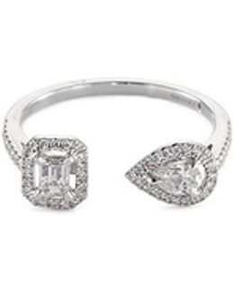 'my Twin' Diamond 18k White Gold Ring