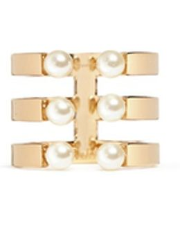 'darcey' Three Row Swarokvski Pearl Ring