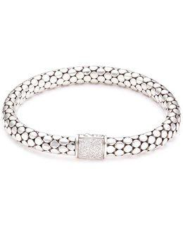 Diamond Silver Dotted Bracelet
