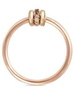 'sirius Rgc' Diamond 18k Rose And Yellow Gold Ring