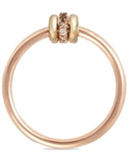 'sirius Rgc' Diamond 18k Rose And Yellow Gold Ring