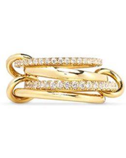 'polaris' Diamond 18k Gold Four Link Ring
