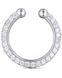 'pavé Orbital Hoop' Diamond Silver Single Ear Cuff