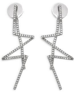 'pavé Flash' Diamond Sterling Silver Earrings