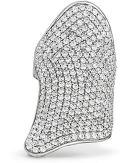 'pavé Armor' Sterling Silver Ring