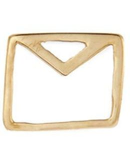 'envelope' 18k Yellow Gold Charm – Love Letters
