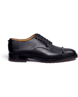 'rockstud' Leather Derbies