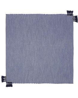 'pompon' Tassel Silk-wool Scarf