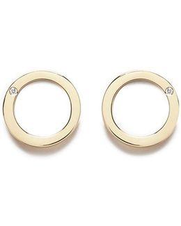 Diamond 18k Yellow Gold Earrings