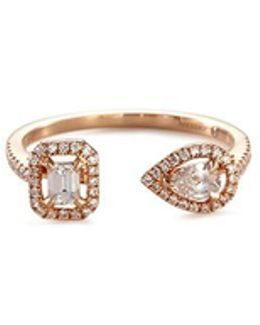 'my Twin' Diamond 18k Rose Gold Ring