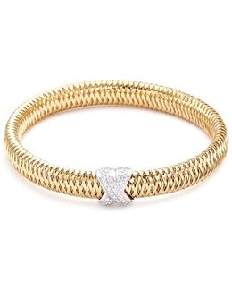 'primavera' Diamond 18k Yellow And White Gold Bracelet