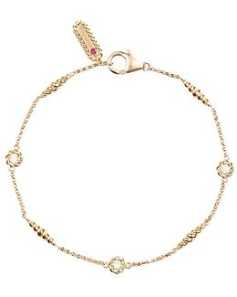 'barocco Chains' Diamond 18k Yellow Gold Bracelet