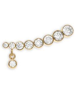 'croissant Amanda' Diamond 18k Yellow Gold Single Earring