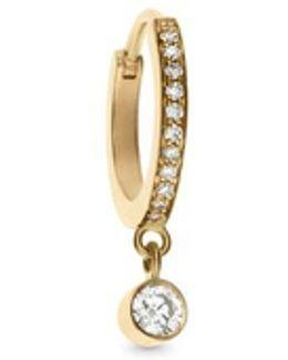 'daisy Grand' Diamond 18k Yellow Gold Single Earring