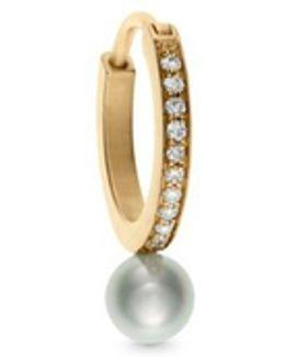 'daisy Perle' Akoya Pearl Diamond 14k Gold Single Earring