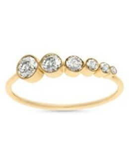 'plein Des Etoiles' Diamond 18k Yellow Gold Ring