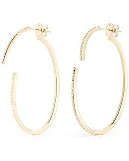 'converge' Diamond Pavé 18k Gold Hoop Earrings