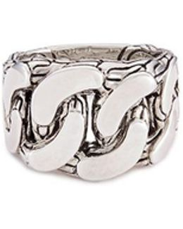 Silver Chain Effect Ring