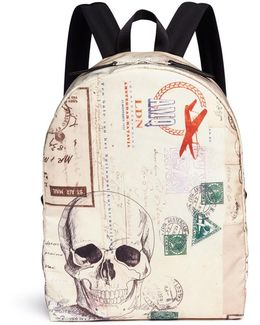 Letters From India Printed Backpack
