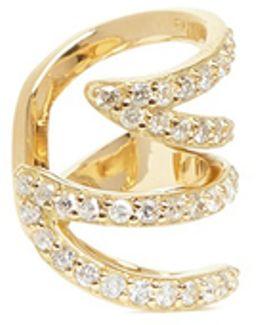 'stella' 18k Gold Diamond Pavé Winged Ear Cuff