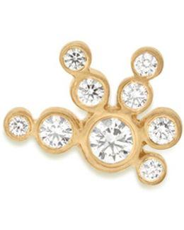 'flacon De Neige' Diamond 18k Yellow Gold Single Earring