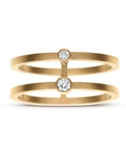 'minor' Diamond 18k Yellow Gold Midi Ring