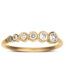 'pleine De Lune Grand' Diamond 18k Yellow Gold Ring