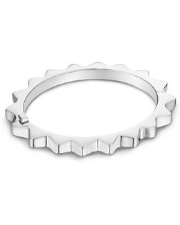 'thin Gear' Sterling Silver Bangle